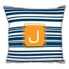 Block Island Single Initial Cotton Throw Pillow Letter: L