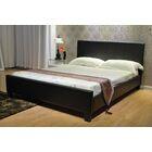 Upholstered Platform Bed Color: Dark Brown, Size: Twin
