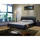 Upholstered Platform Bed Color: Black, Size: Queen