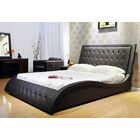 Upholstered Platform Bed Size: California King, Color: Dark Brown