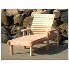 Henry Rustic Beach Wood Chaise Lounge Finish: Mahogany