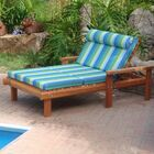 Henry Beach Wide Chaise Lounge Finish: Super Deck