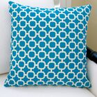 Hockley Geometric Modern Outdoor Pillow Cover Color: Teal