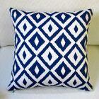 Coastal Geometric Modern Indoor/Outdoor Throw Pillow Color: Navy Blue