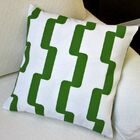 Rhyme Modern Geometric Outdoor Throw Pillow Color: Green