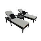 Frigor 3 Piece Chaise Lounge Set with Cushions Finish: Brown, Fabric: Cream
