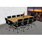 11 Piece 8' Rectangular Conference Table Set Finish: Camel