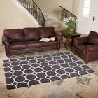 Hand-Tufted Charcoal Area Rug Rug Size: 5' x 8'