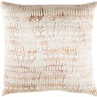 Natural Affinity Silk Throw Pillow Color: Brown / Orange