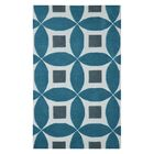 Henley Hand-Tufted Teal Blue/Gray Area Rug Rug Size: Rectangle 5' x 8'