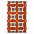 Henley Hand-Tufted Orange/Gray Area Rug Rug Size: Rectangle 4' x 6'