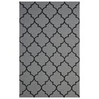 Wool Hand-Tufted Ivory/Black Area Rug Rug Size: 5' x 8'