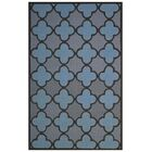 Wool Hand-Tufted Light Blue/Gray Area Rug Rug Size: 5' x 8'
