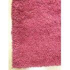 Shag Eyeball Woolen Hand Knotted Claret Wine Red Area Rug Rug Size: Round 6'