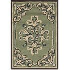 Orr Hand-Hooked Sage Area Rug Rug Size: Rectangle 6' x 9'