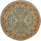 Regner Hand-Hooked Sage/Copper Area Rug Rug Size: Rectangle 6' x 9'