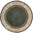 Grange Hand-Hooked Slate/Ivory Area Rug Rug Size: Round 6' x 6'