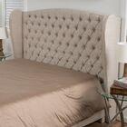 Eno Upholstered Headboard Size: King/California King, Upholstery: Light Beige