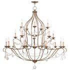 Bayfront 18-Light Candle Style Chandelier Color: Antique Gold Leaf