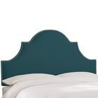 Delaware Upholstered Panel Headboard Size: Queen, Upholstery Color: Peacock