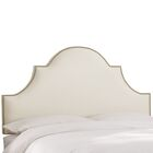 Delaware Upholstered Panel Headboard Size: California King, Upholstery Color: Pearl