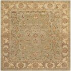 Taylor Hand-Tufted Wool Green/Gold Area Rug Rug Size: Square 8'