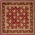 Taufner Red Area Rug Rug Size: Square 6'7