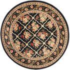 Taufner Black Area Rug Rug Size: Round 5'3