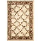 Taufner Ivory/Brown Checked Area Rug Rug Size: Rectangle 8'9