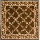 Taufner Brown Checked Area Rug Rug Size: Square 6'7