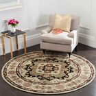 Mckee Hand-Hooked Soft Green/Ivory Area Rug Rug Size: Round 8' x 8'