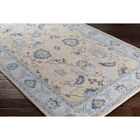 Crandon Border Gray/Blue Area Rug Rug Size: Rectangle 5'3