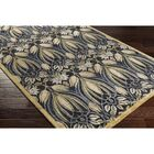 Acton Hand-Tufted Black/Green Area Rug Rug Size: Rectangle 8' x 10'