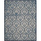 Parsons Blue/Cream Area Rug Rug Size: Rectangle 8' x 11'2