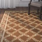 Taufner Brown Checked Area Rug Rug Size: Rectangle 4' x 6'