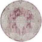 Prager Rose/Beige Area Rug Rug Size: Round 6'7
