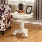 Annable End Table Color: White