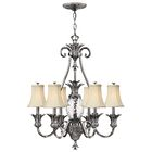 Terry 7-Light Shaded Chandelier Color: Antique Nickel