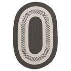 Rockport Gray Indoor/Outdoor Rug Rug Size: Oval 4' x 6'