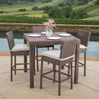 Marystone 5 Piece Bar Height Dining Set with Cushions