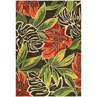 Mariann Areca Palms Hand-Woven Dark Brown/Green Indoor/Outdoor Area Rug Rug Size: Rectangle 8' x 11'