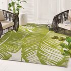 Rhianna Hand-Hooked Green Indoor/Outdoor Area Rug Rug Size: Rectangle 5' x 7'6