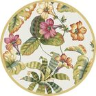 Murray Sand Floral Area Rug Rug Size: Round 5'6