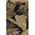 Delview Rainforest Midnight Brown/Tan Plants Area Rug Rug Size: Rectangle 3'3