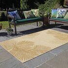 Cecile Palm Neutral Indoor/Outdoor Area Rug Rug Size: Rectangle 7'10