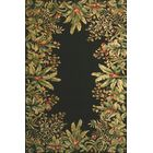 Elks Black/Green Tropical Border Area Rug Rug Size: Rectangle 5'3
