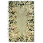 Marion Sage Tropical Border Area Rug Rug Size: Rectangle 2'6