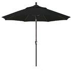 Priscilla 9' Market Umbrella Frame Color: Bronze, Fabric Color: Black