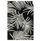 Orin Black/Ivory Rug Rug Size: Rectangle 3'6