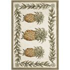 Hogle Ivory/Green Novelty Area Rug Rug Size: Rectangle 2'6